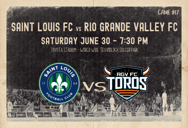 Saint Louis FC welcomes Rio Grande Valley FC to St. Louis on Saturday, June 30 for a United Soccer League match.