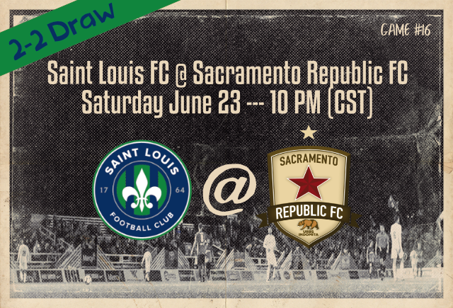 Saint Louis FC and Sacramento Republic FC played to a 202 draw in Sacramento on June 23, 2018 in a USL match.