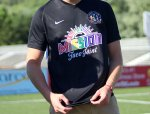 The Mission Taco Joint/Saint Louis FC Pride warm-up jerseys are being auctioned off this month for charity.