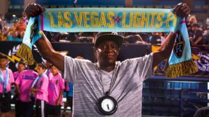 Flavor Flac at a Las Vegas Lights FC match. Photo courtesy Las Vegas Lights FC