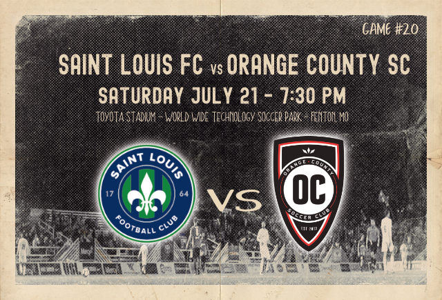 Saint Louis FC takes on Orange County SC on Saturday, July 21 in St. Louis.