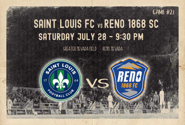 Saint Louis FC travels to Reno, Nevada this weekend to take on Reno 1868 FC Saturday night.