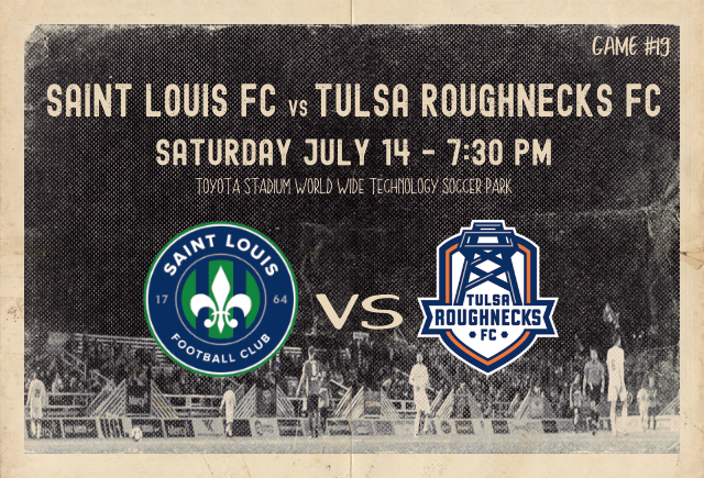 Saint Louis FC takes on Tulsa Roughnecks FC Saturday night in St. Louis.