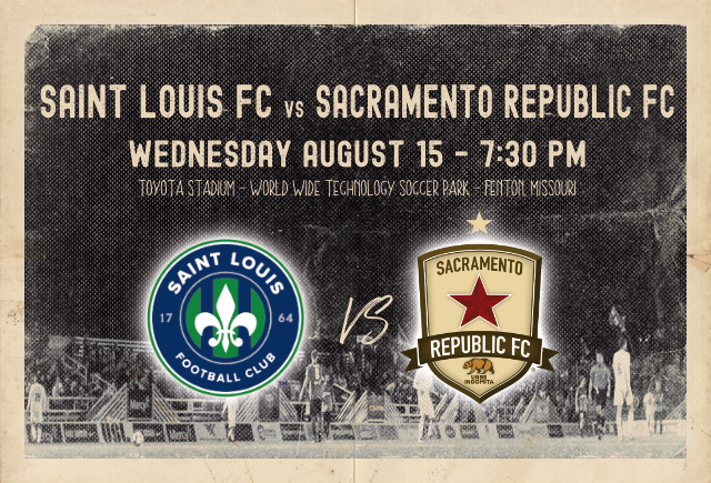 Saint Louis FC takes on Sacramento Republic FC on Wednesday night in St. Lou[is.